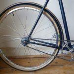 650b back wheel, VO Diagonale rim, Aby-K hub, Grand Bois Cypres